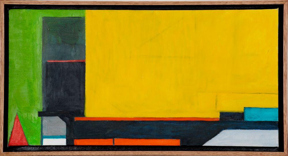 Frank Burgers, 2020, First Construction, oil on linen, 31 x 61 cm