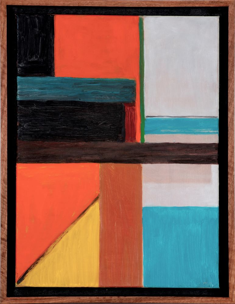 Frank Burgers, Stack 2020 oil on linen 40x30cm