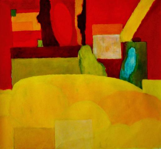 Craig Gough, Garden Colour Construct, 2019. acrylic on canvas, 152 x 167cms $12,000