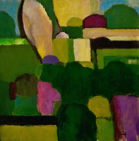 Craig Gough, Special Garden, 2019. acrylic on canvas, 137 x 137cms. $9000