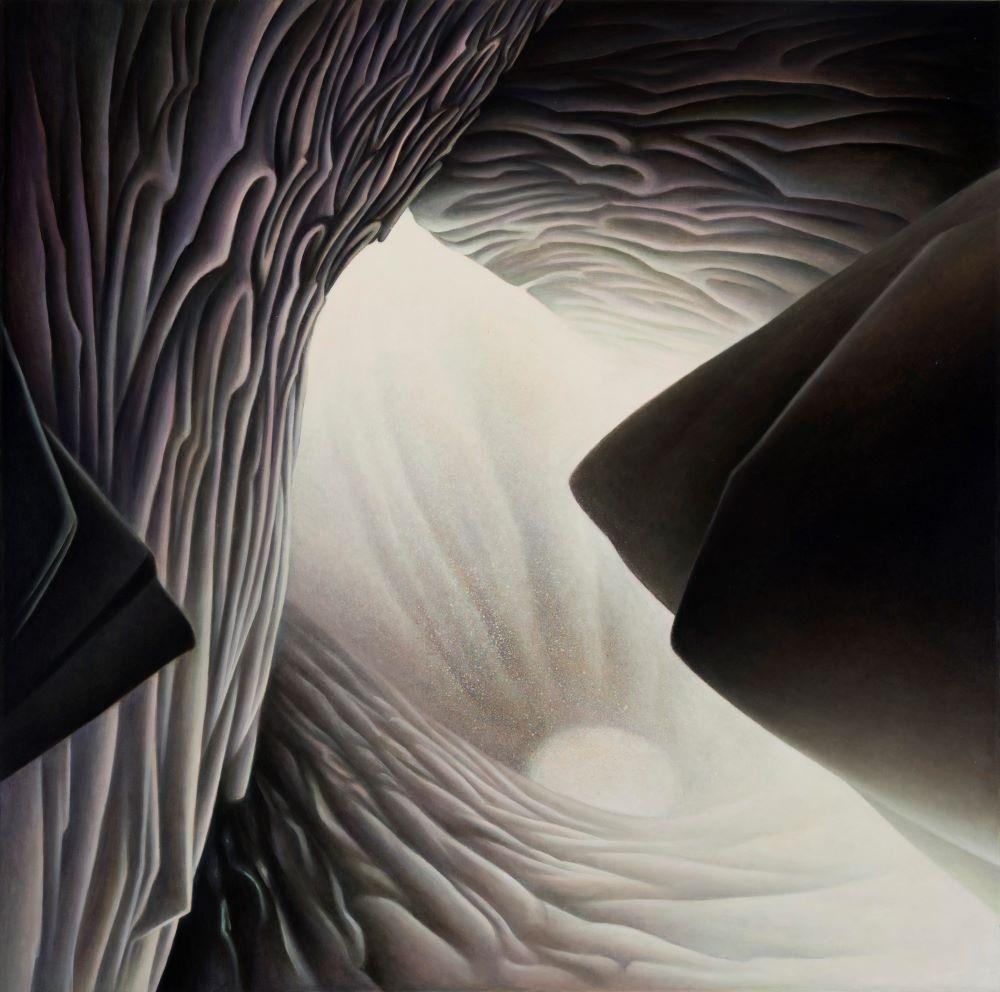 Roger Byrt, Nunatak, 2019, oil on linen, 97 x 97cm $5500