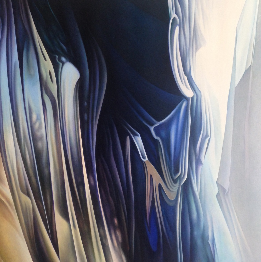 Roger Byrt, Cold North, 2018, oil on linen, 2018, 122 x 122cm $7500