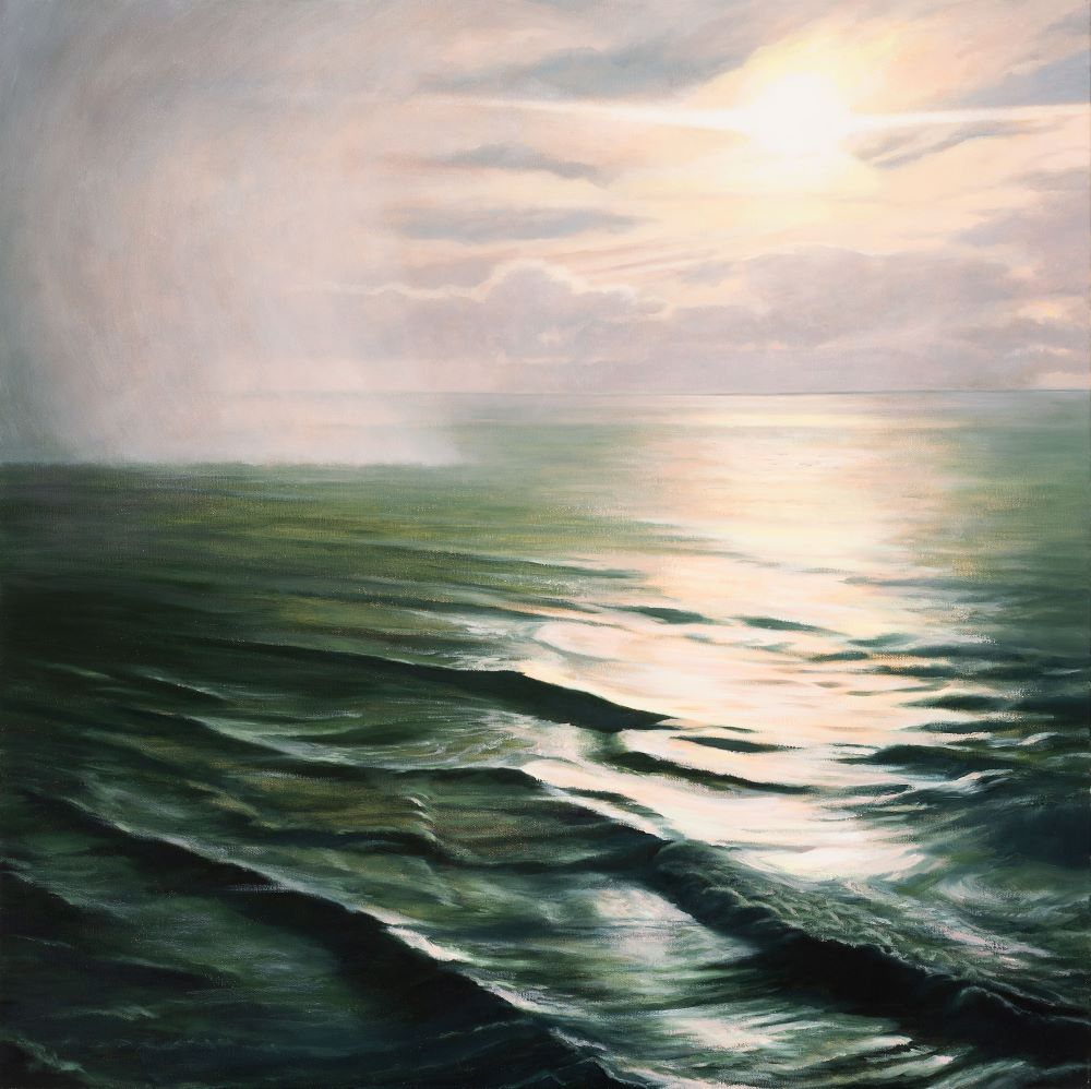 Jill Kempson, Mist, 2020, Oil on Canvas, 100x100cm, $5500