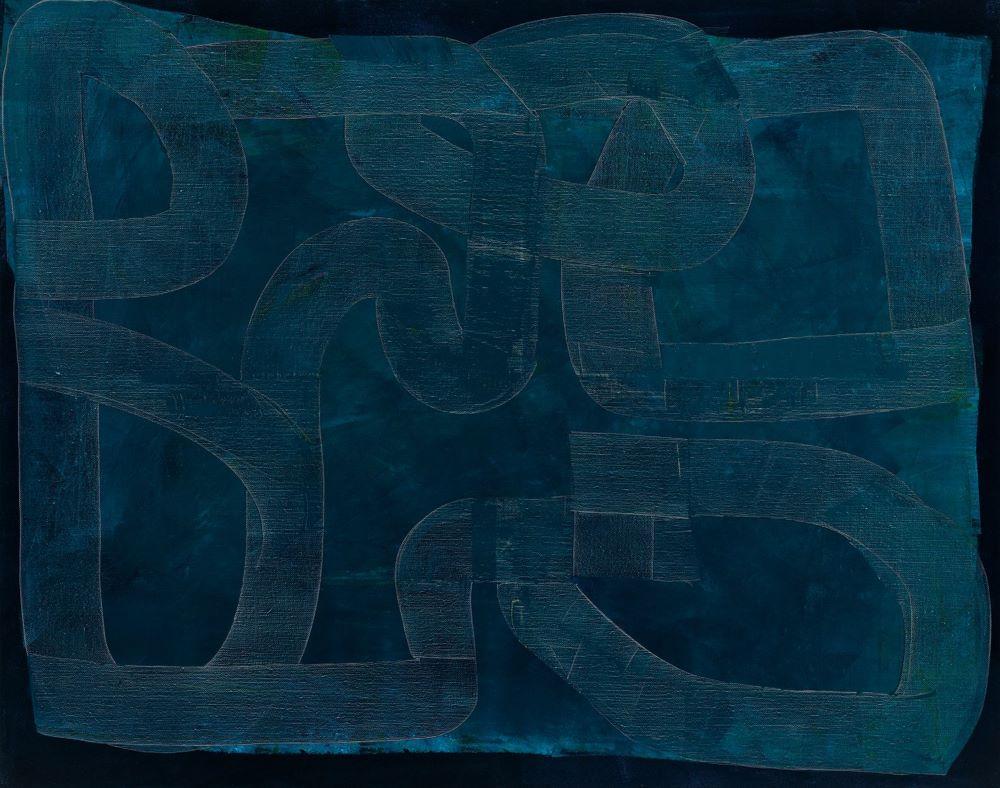 Kate Elsey, Lunar Mare 2020, oil on linen, 150 x 120cm, $12,500