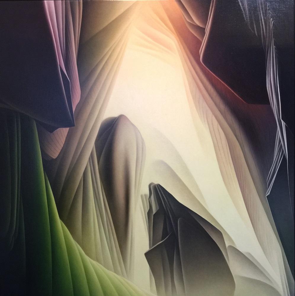 Roger Byrt, Paria Rimrock, 2017, oil on linen, 152 x 156cm $12,500