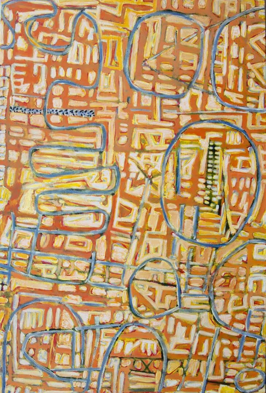 Wayne Eager, Northside Hills, 2015, oil on linen, 182 x 122 cm $7700
